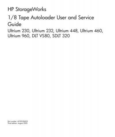 hp storageworks ultrium 232 manual