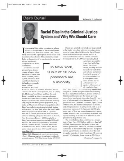 racial bias in justice system