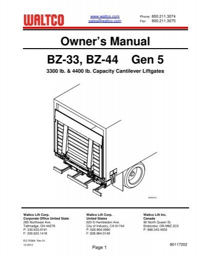 bz 33, 44 series waltcoWaltco Hydraulic Pump Wiring Diagram #19