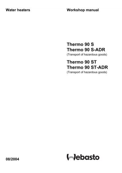 Webasto thermo 90st water heater parts | butlertechnik.