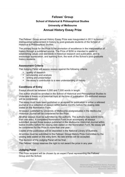 oxford history essay prizes Publication of the winning essay in twentieth century british history a cash prize of £ the winner of the 2015 duncan tanner essay prize oxford university.