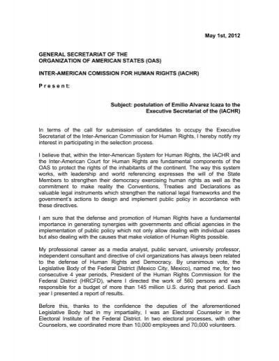 Cover Letter   OAS
