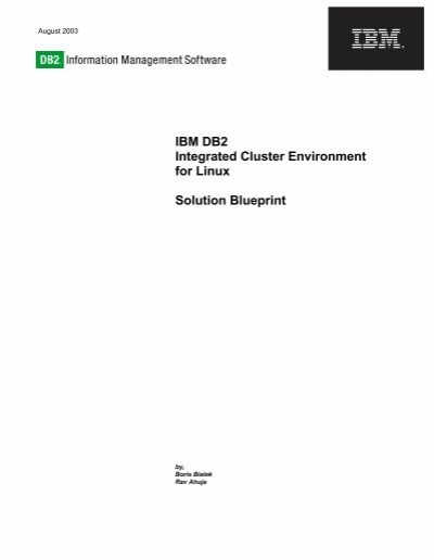 Ibm db2 integrated cluster environment for linux solution blueprint malvernweather Choice Image