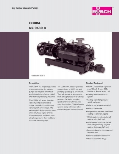 dry screw vacuum pump pdf