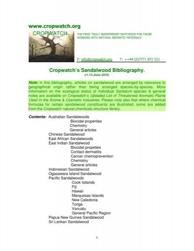 Sandalwood Biblio Cropwatch