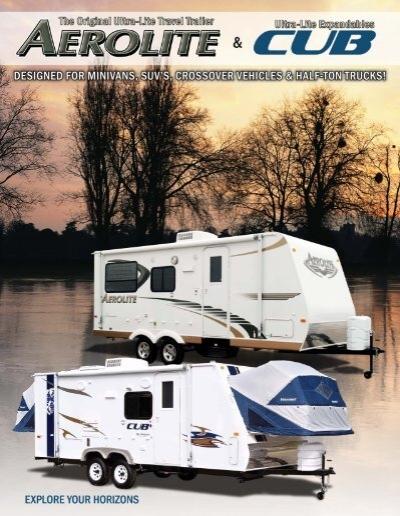 2009 Aerolite Cub Brochure Indd Dutchmen Rv