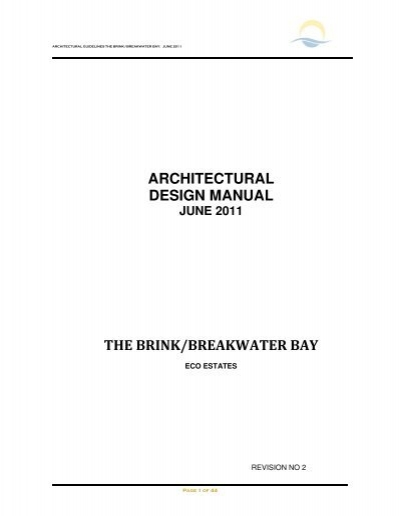 Architectural Design Manual The Brink/breakwater Bay