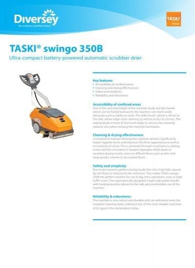 taski swingo 350 user manual
