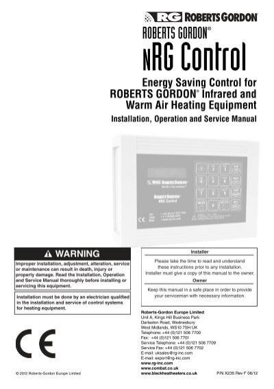 Roberts gordon ® bzc building zone controller.