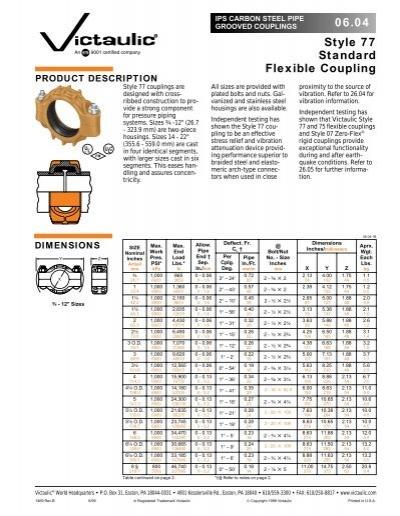 Style standard flexible coupling