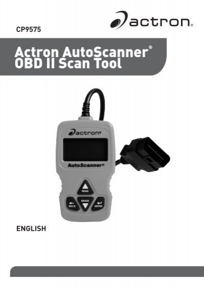 actron autoscanner obd ii scan tool autoaccessoriesgarage com rh yumpu com Actron Scanners for Chrysler Adapters Scan Tool Actron Super Auto