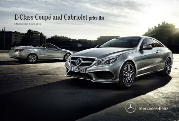 E class coup price list june mercedes benz for Mercedes benz list price