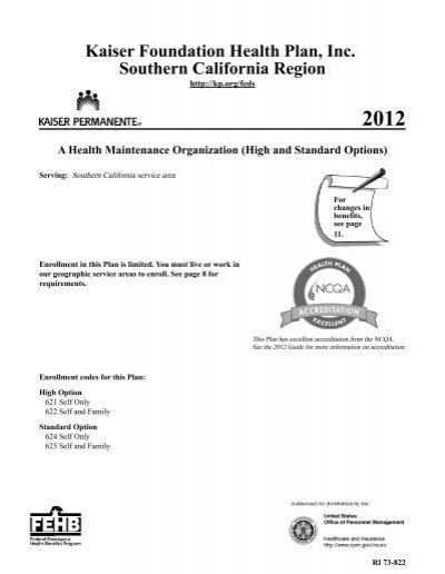 Kaiser Foundation Health Plan Inc Southern California Region