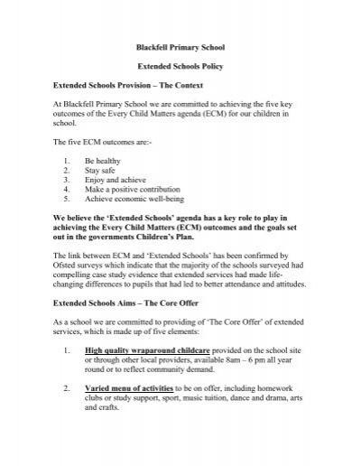 every child matters agenda 5 outcomes