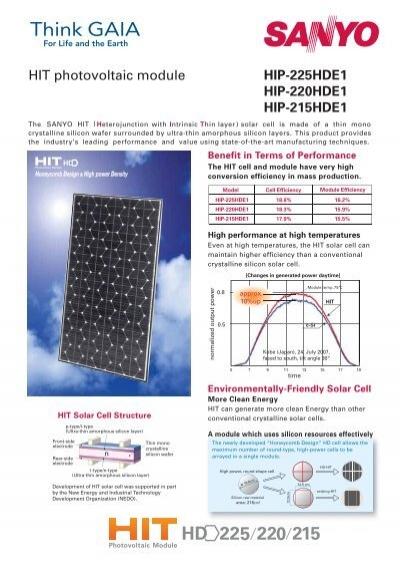 hip 225hde1 hip 220hde1 hip 215hde1 hit photovoltaic module. Black Bedroom Furniture Sets. Home Design Ideas