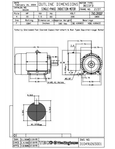 Westinghouse Electric Motors Wiring Diagram