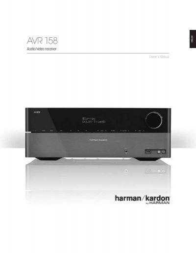 owner manual avr 158 english eu harman kardon rh yumpu com Harman Kardon AVR 2700 Harman Kardon AVR 2700