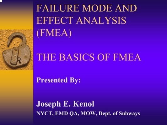 fmea case study Project risk management using the project risk fmea the new approach is illustrated in a case study in other studies across.
