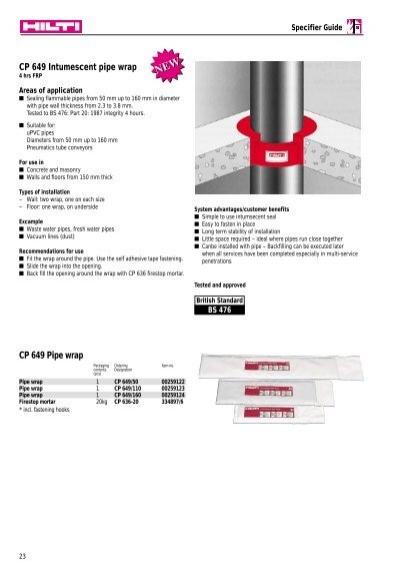 Cp 649 Intumescent Pipe W