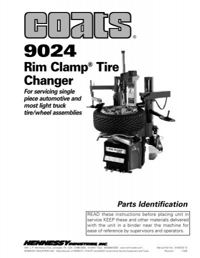 coats 9024a 9024e tire changer ny tech supply rh yumpu com