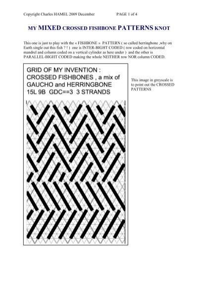 my mixed crossed fishbone patterns knot charles hamel