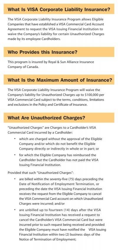 What Is Visa Corporate Li