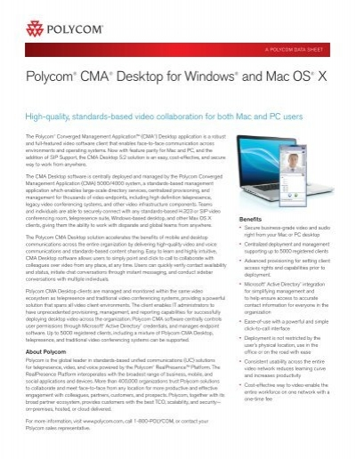polycom cma desktop for windows and mac os x rh yumpu com