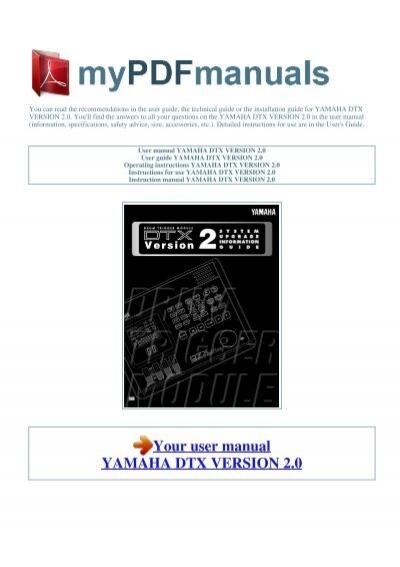 user manual yamaha dtx version 2 0 1 rh yumpu com Yamaha Electronic Drums Yamaha Digital Drums