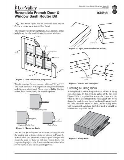 Beau Reversible French Door U0026 Window Sash Router Bit   Lee Valley Tools
