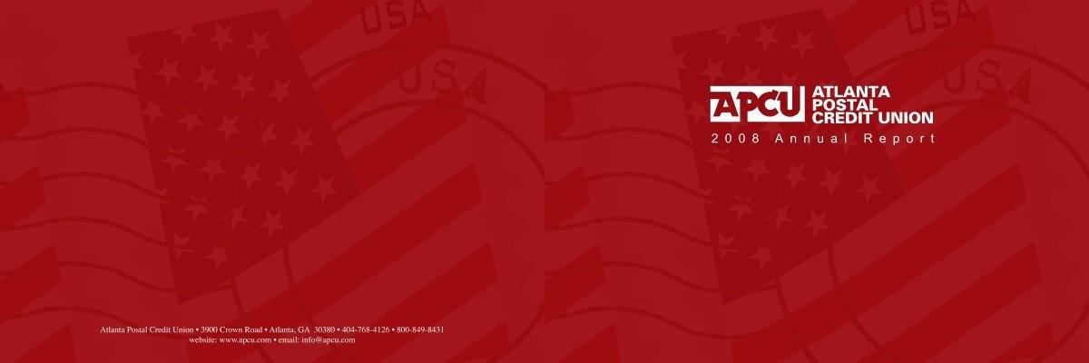 2007 Annual Report Atlanta Postal Credit Union