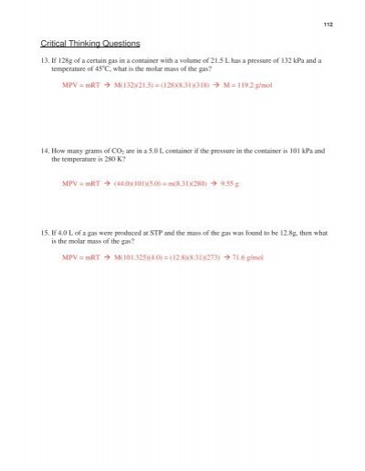 Gas Stoichiometry Worksheet - Sharebrowse