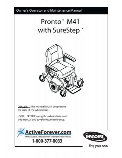 invacare pronto power wheelchair user manual pdf activeforever rh yumpu com