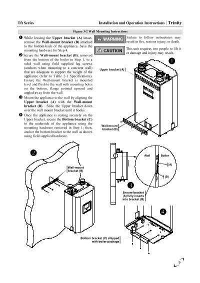 Boiler Installation: Trinity Boiler Installation Manual