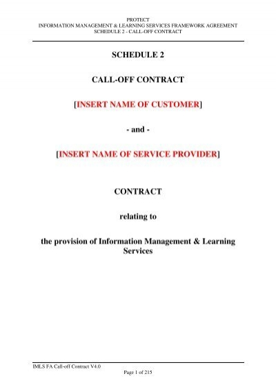 Call Off Contract Government Procurement Service Cabinet Office