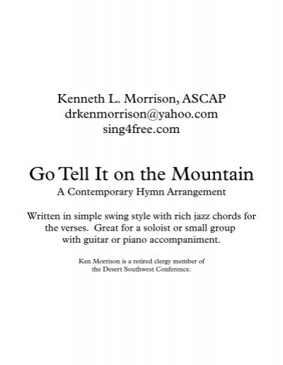 Go Tell It on the Mountain\