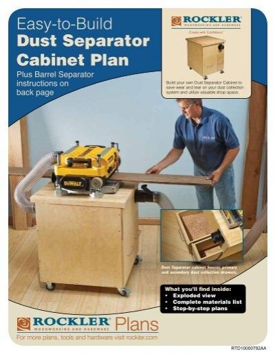 U0026BTZ; UP #VJME Dust Separator Cabinet Plan   Rockler.com