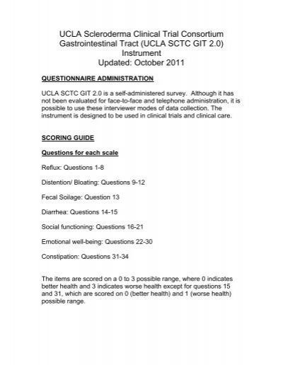 Scoring Guide - UCLA SCTC GIT 2 0 Questionnaire
