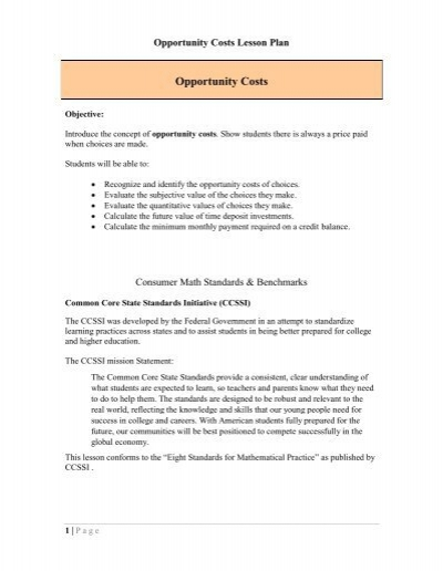 Worksheets Opportunity Cost Worksheet download lesson worksheet on opportunity cost tutor2u costs plan saveandinvest org