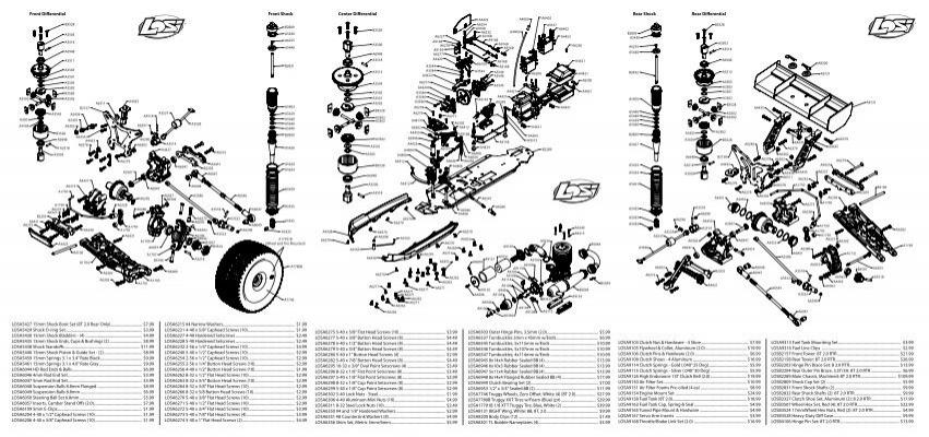 8B 8T Losi A9103 Clutch Nut /& Hardware 4 Shoe
