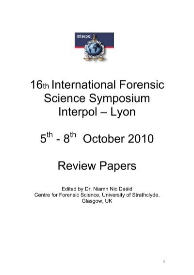 Examination Of Firearms Review 2007 To 2010 Interpol