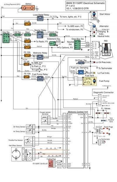 BMW R1150RT Electrical Schematic P 1 of 3 V3.1, 1 ... - mac-pac.org | Bmw R1150r Wiring Diagram |  | Yumpu
