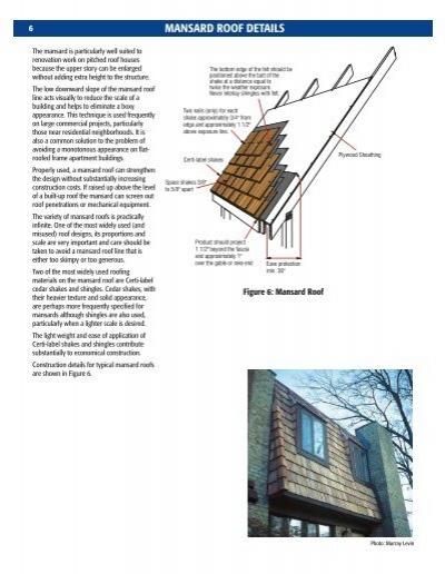 6 Mansard Roof Details Th