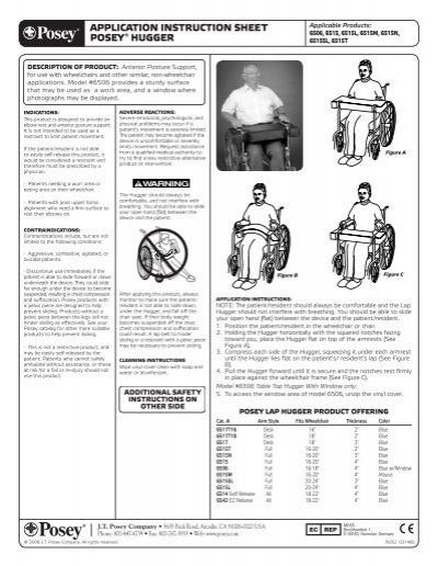 Application Instruction Sheet Posey Vitality Medical