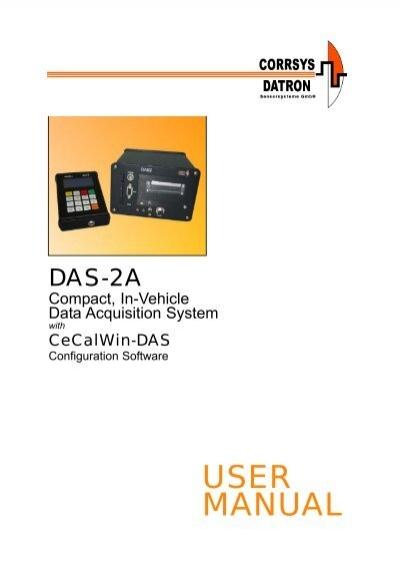 Das Data Acquisition System : User manual das a data