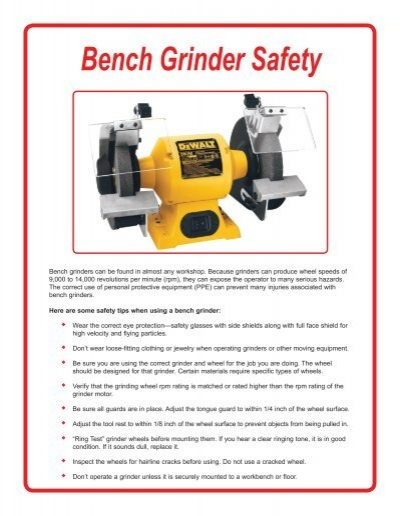 Tremendous Bench Grinder Safety Pdf Acuity Bralicious Painted Fabric Chair Ideas Braliciousco