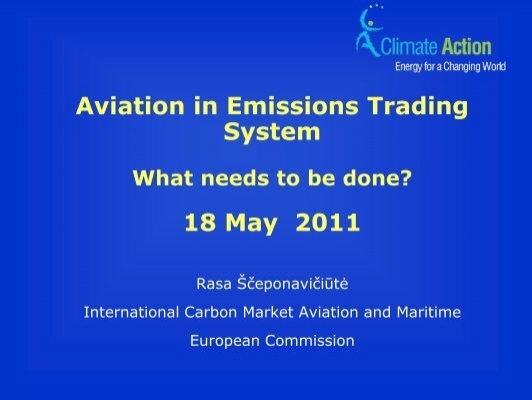 Emissions trading system aviation