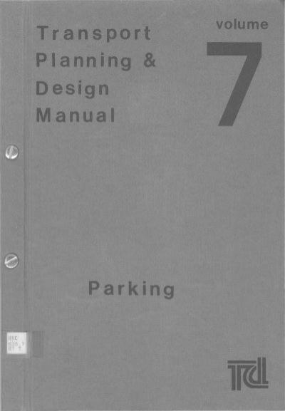 transport planning design manual volume 7 parking rh yumpu com transport planning and design manual volume 2 transport planning and design manual volume 2