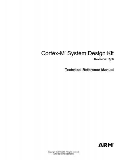 cortex m system design kit technical reference manual arm rh yumpu com arm cortex-m4 processor technical reference manual ARM Cortex M4 Tutrial
