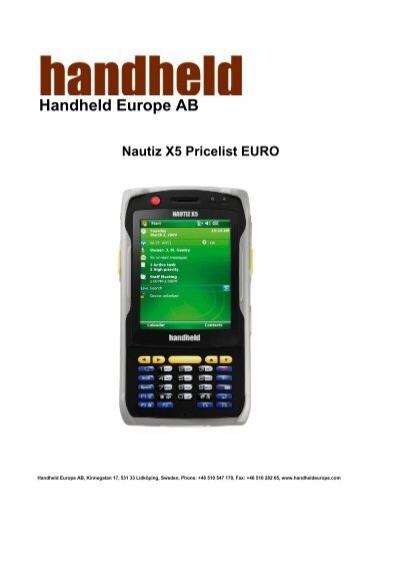 handheld europe ab nautiz x5 pricelist euro rh yumpu com