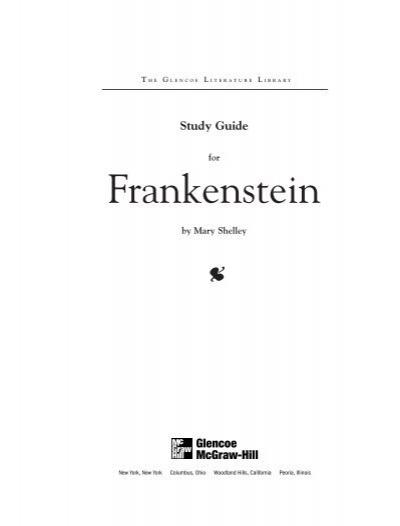 Amazon.com: frankenstein study guide